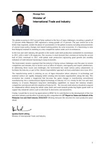 Message from Minister of MITI