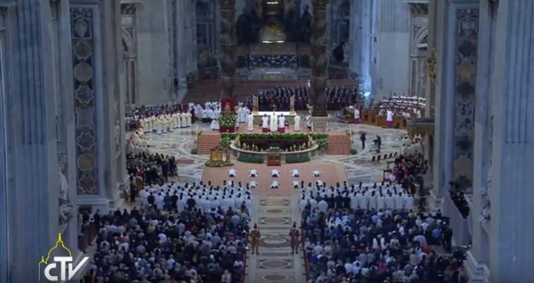 Misa 4to Domingo de Pascua, ordenación de sacerdotes Foto: captura youtube Radio Vaticano