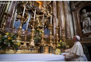 Papa Francisco en Iglesia Santa María la mayor
