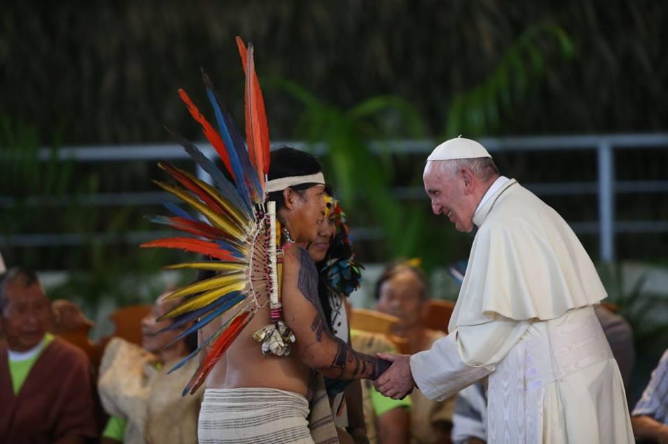 Papa Francisco en Puerto Maldonado FB: Papafranciscoenperu.org