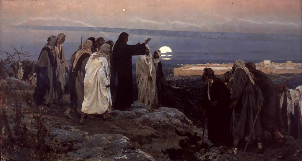Enrique Simonet Lombardo (Spanish, 1864-1927) Flevit super illam (1892) Oil on canvas. 296 by 550 cm. Museo Nacional del Prado, Madrid. On loan to Murcia.