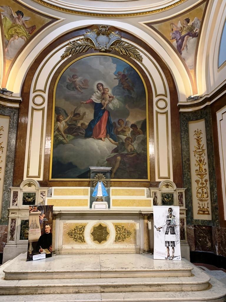 Capilla de la Inmaculada Concepción con Ntra Sra de Lujan y el Negrito Manuel