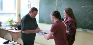 12. Podczas spotkania z młodzieżą gimnazjalną, kl. II c.