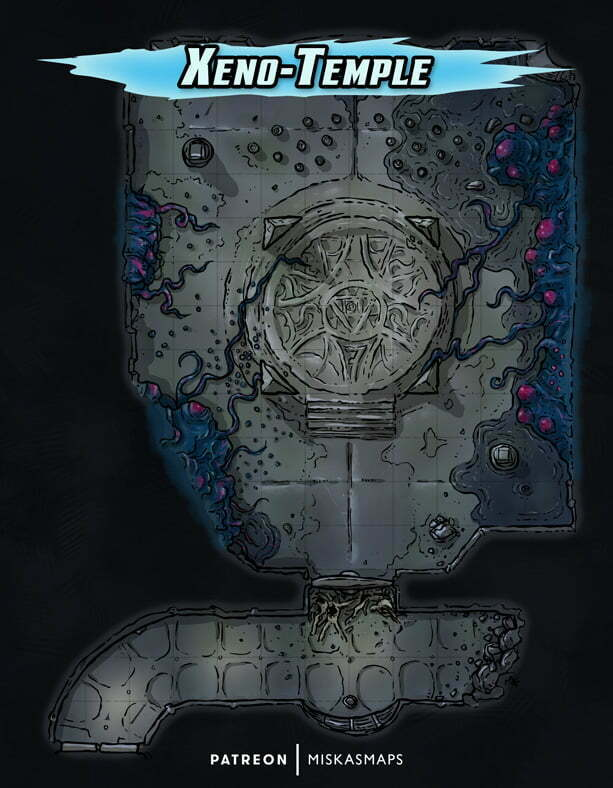 Alien temple battle map