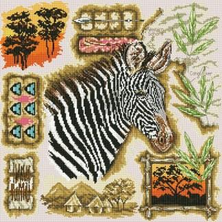AFRICA-1: Gráfico de punto de cruz para descargar GRATIS al comprar CEBRAS-2, imprimir y bordar cebra africana