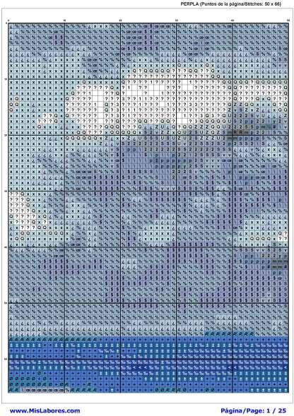 Pagina del grafico de punto de cruz PERPLA