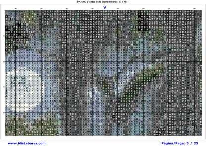 Página del gráfico de punto de cruz PAJNOC