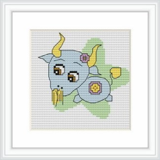 B059: Kit de punto de cruz para bordar dibujo infantil con signo del zodíaco de Capricornio