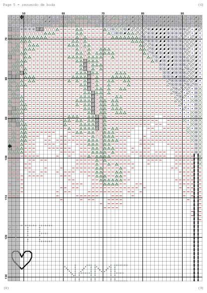 Página del gráfico de punto de cruz WEDDING-3