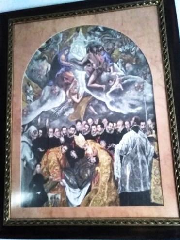 """VENTA DE BORDADO A PUNTO DE CRUZ de el cuadro del Greco """"entierro del Conde de Orgaz"""""""