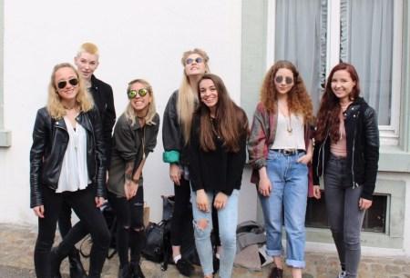 Von links nach rechts: Nicolina, Hanna, ich...