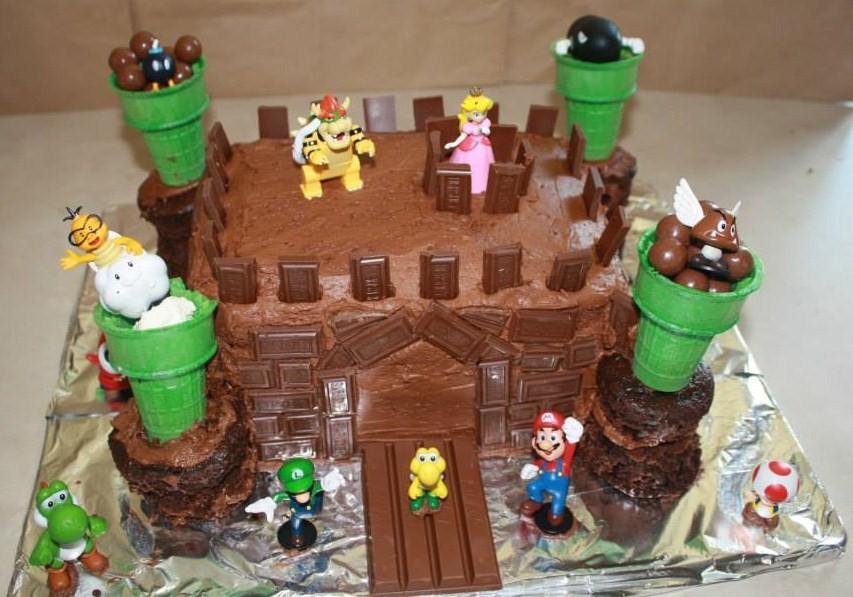 Easy Bowser Castle Cake MisMashedMom