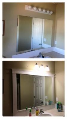 Bathroom mirror easy remodel