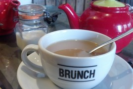 A lovely brunch cafe called 'Brunch'. We go there for Baps and tea.