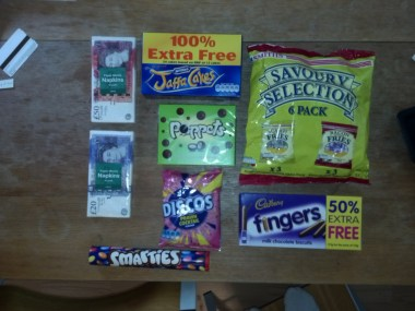 British snacks!