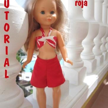 Tutorial Falda-Pantalón Roja para Nancy