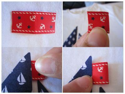 mis nancys, mis peques y yo, tutorial aplique camiseta colocar banderín