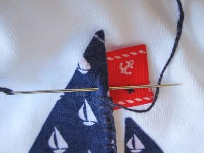 mis nancys, mis peques y yo, tutorial aplique camiseta festón banderín