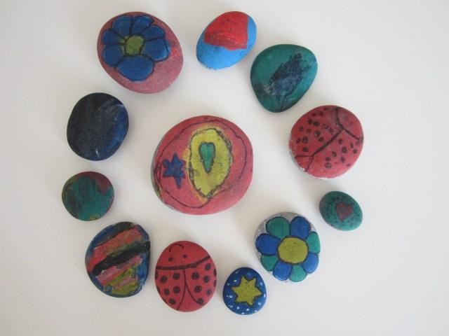 mis nancys, mis peques y yo, piedras pintadas