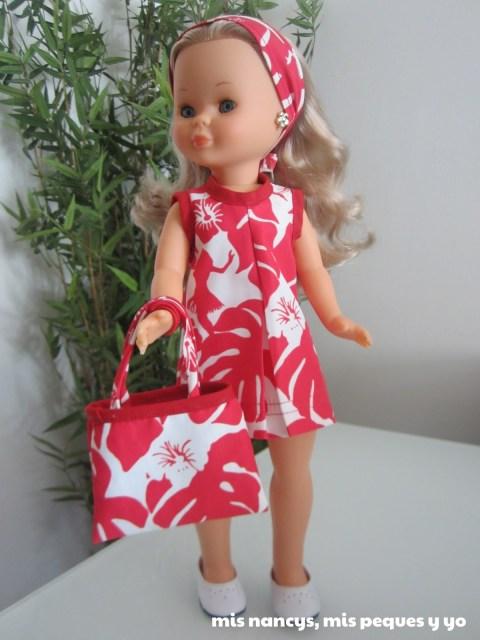 mis nancys, mis peques y yo, conjuntos playeros: vestido, bolsa y turbante nancy