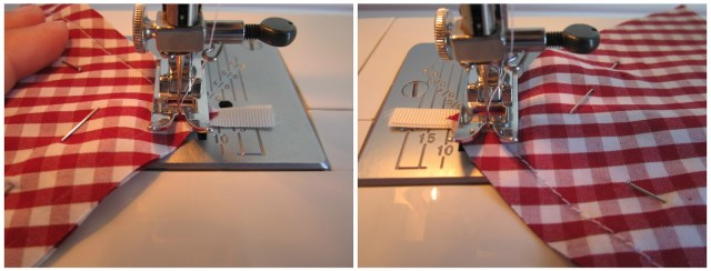 mis nancys, mis peques y yo, tutorial DIY adornos Navidad, pespunte seguridad sobre cinta