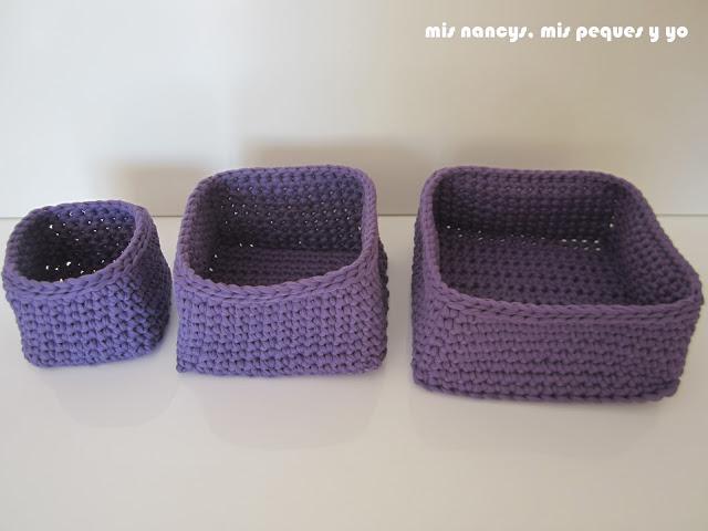 mis nancys, mis peques y yo, tutorial DIY cestas cuadradas de trapillo