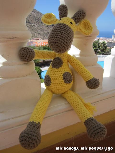 mis nancys, mis peques y yo, jirafa amigurumi, amarilla