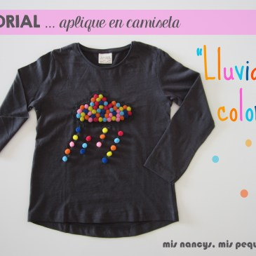 Tutorial Aplique en camiseta… «Lluvia de colores»