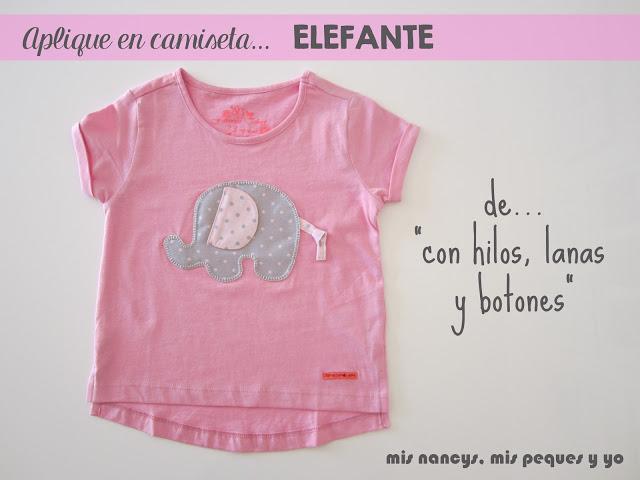 mis nancys, mis peques yo, aplique elefante en camiseta