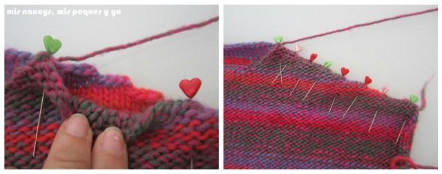 mis nancys, mis peques y yo, Tutorial DIY como coser un jersey de lana, sujetar hombros con alfileres