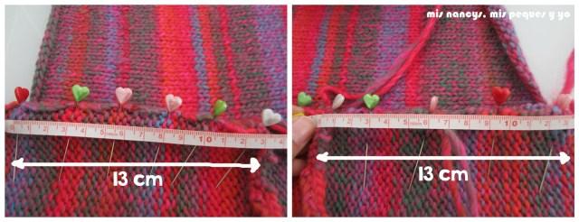 mis nancys, mis peques y yo, Tutorial DIY como coser un jersey de lana, centrar manga