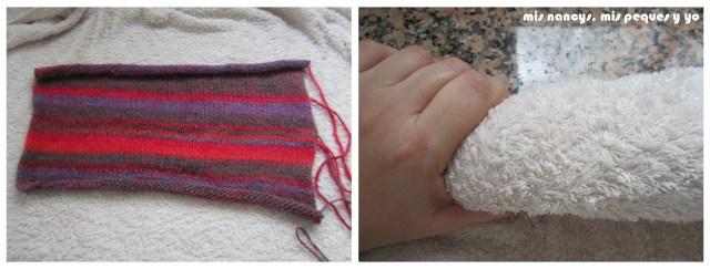 mis nancys, mis peques y yo, Tutorial DIY como bloquear un jersey de lana, quitar el exceso de agua