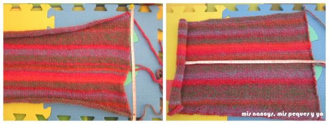 mis nancys, mis peques y yo, Tutorial DIY como bloquear un jersey de lana, comprobar las medidas de las mangas