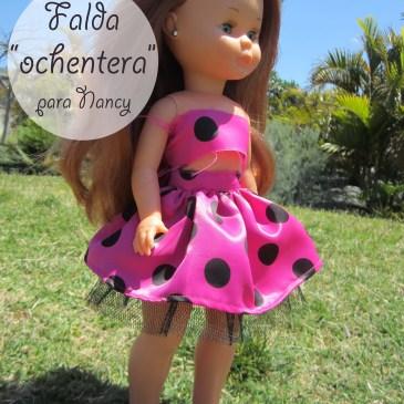 Tutorial DIY: Falda fruncida con tul «Ochentera» (para Nancy y para niñas)
