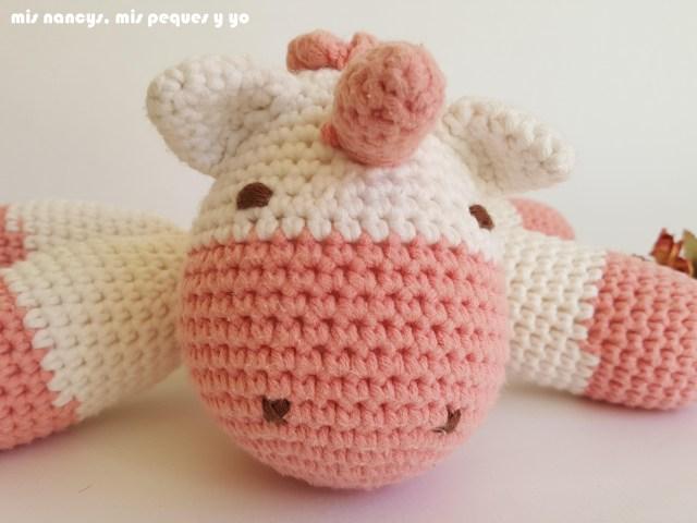 mis nancys, mis peques y yo, bebe unicornio amigurumi, detalle cabeza