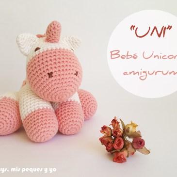 «UNI» Bebe unicornio amigurumi