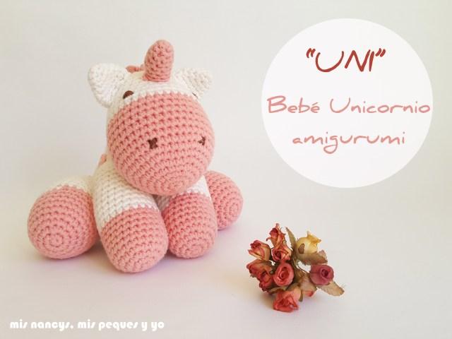 mis nancys, mis peques y yo, bebe unicornio amigurumi
