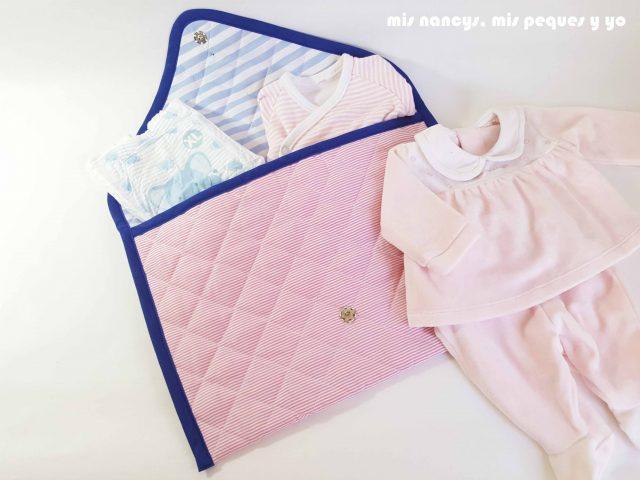 mis nancys, mis peques y yo, conjunto de cambiador para bebe y bolsitas tipo sobre, bolsita tipo sobre para guardar muda bebe