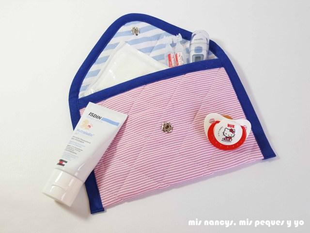 mis nancys, mis peques y yo, conjunto de cambiador para bebe y bolsitas tipo sobre, bolsita tipo sobre para guardar botiquin bebe