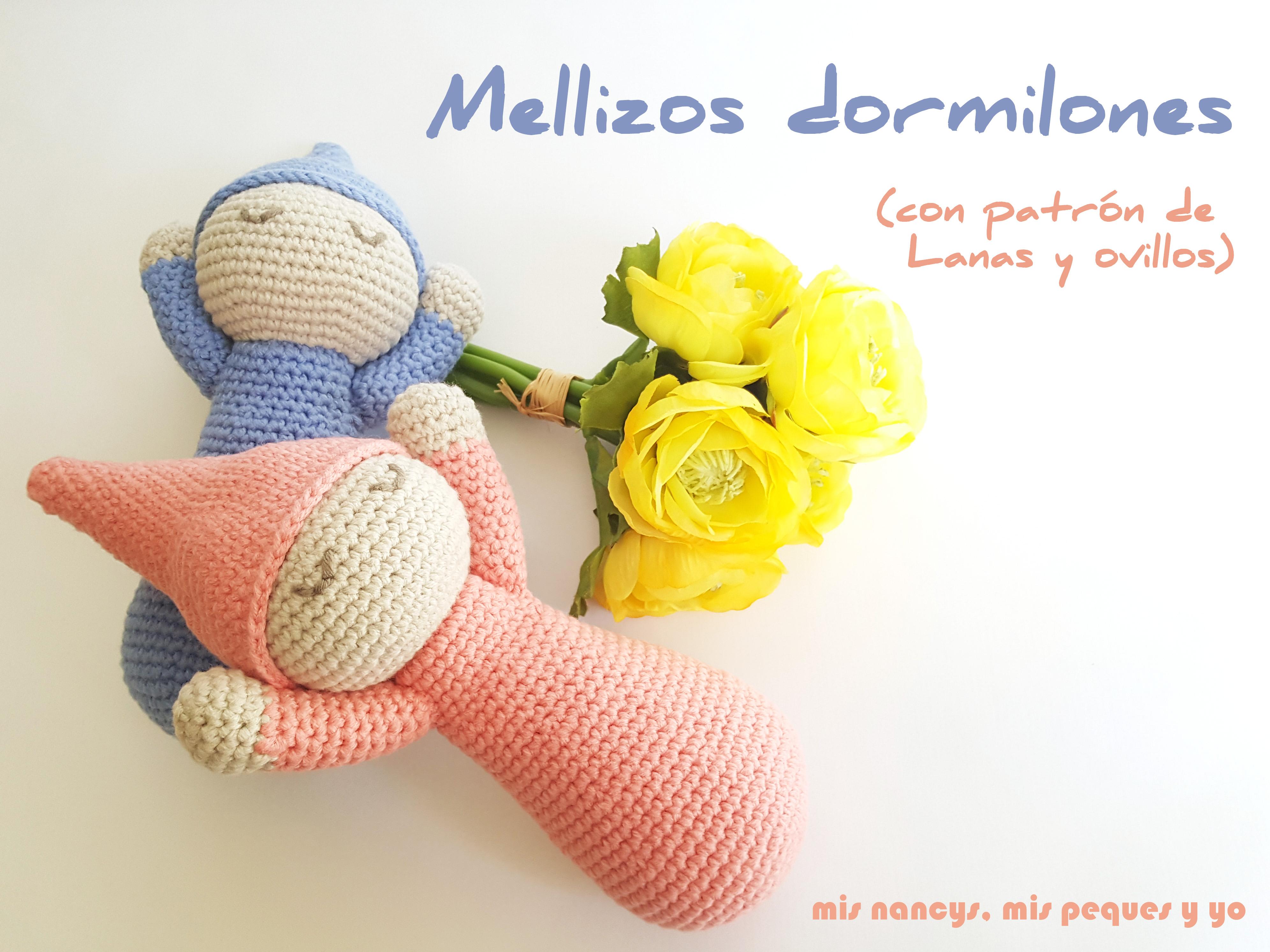 Mellizos dormilones: una bonita pareja de bebes amigurumis
