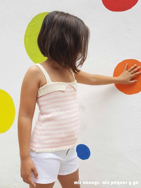 """mis nancys, mis peques y yo, tutorial jersey de punto de verano para niñas """"Fresa y nata"""""""