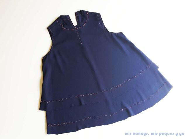 mis nancys, mis peques y yo, blusa de doble capa para mujer, hilvanando