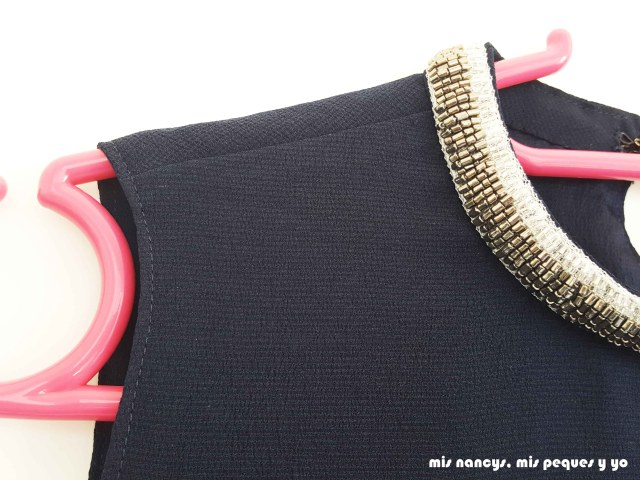 mis nancys, mis peques y yo, blusa de doble capa para mujer, detalle pespunte al filo en sisa