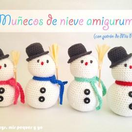 mis nancys, mis peques y yo, muñecos de nieve amigurumi