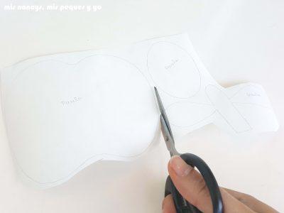 mis nancys, mis peques y yo, tutorial como personalizar camisetas, aplique de manzana, recortar flixelina