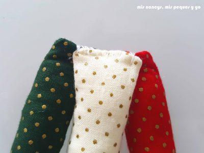 mis nancys, mis peques y yo, tutorial corona de navidad trenzada, colocar las tres tiras juntas