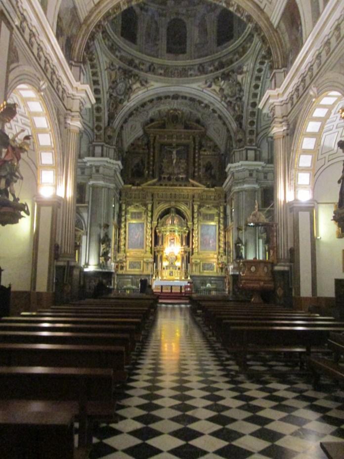 Interior de San Justo y Pastor. Granada. Foto: Francisco López
