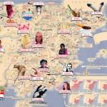 Mapa nombres cochinos de España