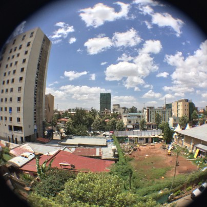 Fisheye view from Hotel