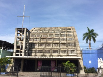 Catholic Church in San Salvador, made of cement and recycled materials.